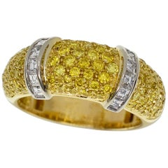 Boucheron Scala Diamond Yellow Diamonds Ring 18 Karat Yellow Gold