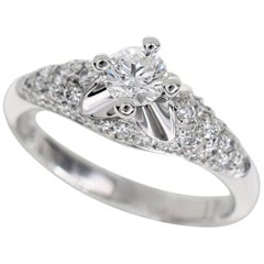 Bvlgari Corona Diamond 0.30 Carat E-VS1-VG Ring 950 Platinum