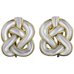 Tiffany & Co. Angela Cummings 18 Karat Yellow Gold Celtic Knot Earrings