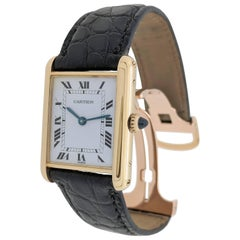 Cartier Yellow Gold Tank Louis Vintage manual Wristwatch, 1970s