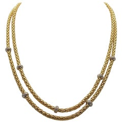 Double Strand Diamond Necklace by Fope
