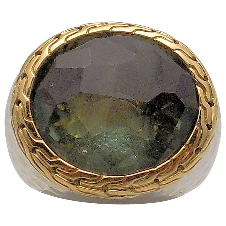 Green Quartz Ring by John Hardy For Sale