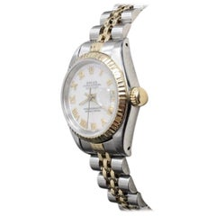 Rolex Ladies Datejust 69173 Mop Dial 18k Yellow Gold and Stainless Steel