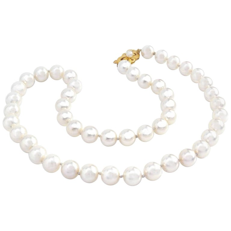 Mikimoto Tahitian Pearl Necklace: Mikimoto Pearl Necklace For Sale At 1stdibs