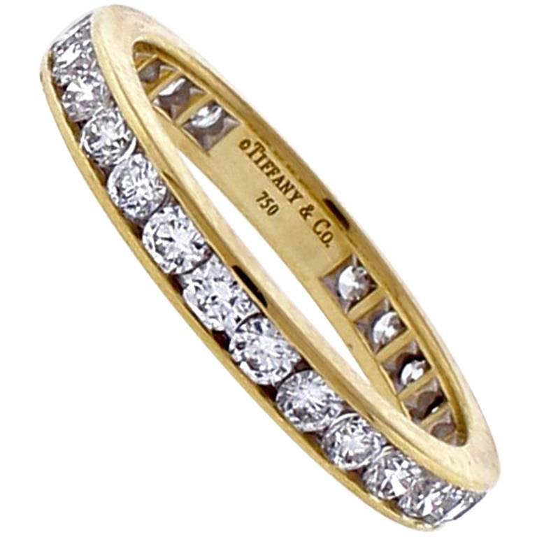 Tiffany & Co. 18 Karat Gold Diamond Band-Ring