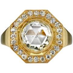 1.88 Carat GIA Certified Octagonal Rose Cut Ring