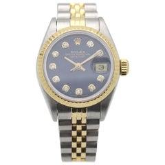 Rolex Ladies Datejust 69163 Diamond Dial 18 Karat Gold and Stainless Steel
