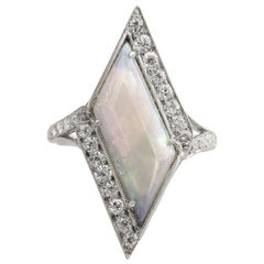 Art Deco Era Opal Diamond Ring
