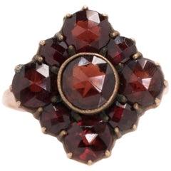 1920s Art Deco 3 Carat Bohemian Garnet Ring
