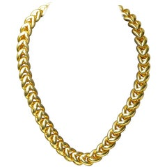 18 Karat Solid Gold Ladies Chain Necklace by Wempe 123 Grams