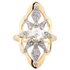 Zoe and Morgan Sitara 18k Yellow Gold Rose Cut Diamond Engagement Ring