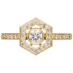 Zoe & Morgan Aretha 18k Yellow Gold Diamond Engagement Ring