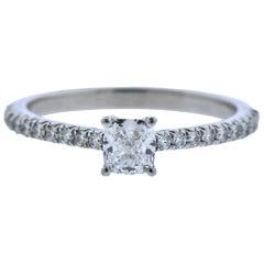 Tiffany & Co. 0.41 Carat D VS1 Diamond Platinum Engagement Ring