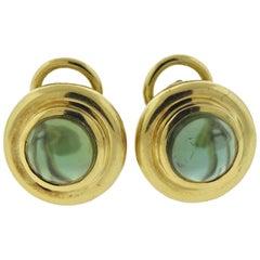 Tiffany & Co. Paloma Picasso Green Tourmaline Gold Earrings