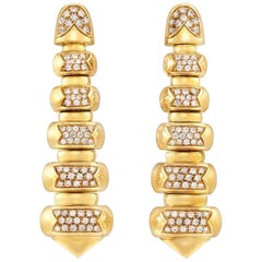 Bvlgari, Gold and Diamond 'Celtica' Pendant Clip-On Earrings