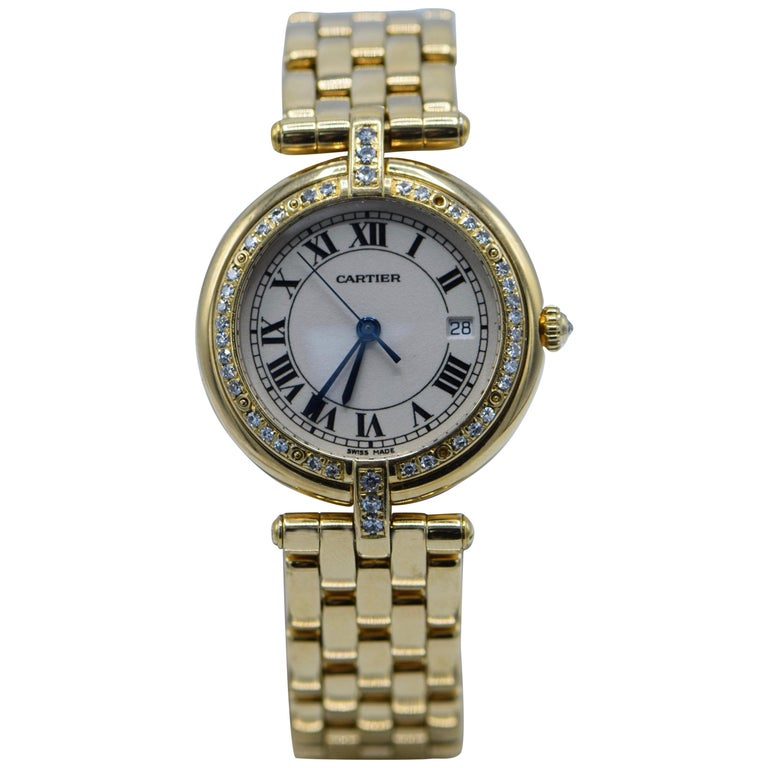 Cartier Ladies yellow Gold Diamond Panthere Wristwatch