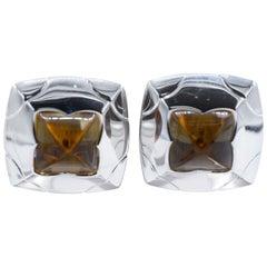 Bvlgari, Lemon Citrine and White Gold Clip-On Earrings