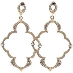 Armenta Old World Open Frame Dulcinea Diamond Earrings, Style 03040