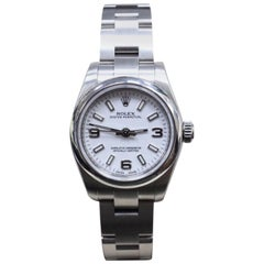 Rolex Ladies Oyster Perpetual 176200 White Dial Stainless Steel Box and Papers