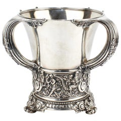 Antique Tiffany & Co. Sterling Silver Olympian Pattern Tyg or Loving Cup