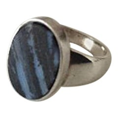 Georg Jensen Sterling Silver Ring with Stone No 90F