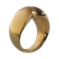 Georg Jensen 18 Karat Gold Nanna Ditzel Ring No 100 / 1100