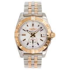 Breitling Galactic C37330 18 Karat Rose Gold and Steel Mother-of-Pearl Dial