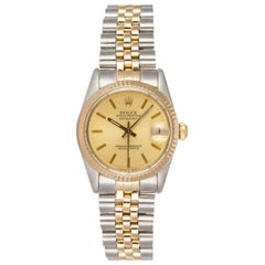 Rolex Two-Tone Datejust Stainless Steel and 18 Karat Yellow Gold 68273