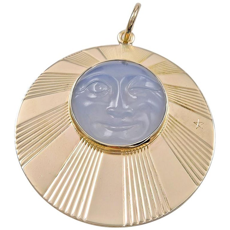 Tiffany & Co. Man in the Moon Gold Pendant/Charm For Sale