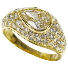 Bvlgari Diamond 1.01 Carat Near Colorless Ring 18 Karat Yellow Gold