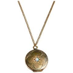 Edwardian 14 Karat Opal Locket