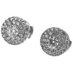 Tiffany & Co. Soleste Earrings Diamonds 0.61 Carat 950 Platinum