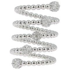 0.62 Carat GVS Diamond Ring 18K Yellow Gold / Round White Diamond Fashion Rings
