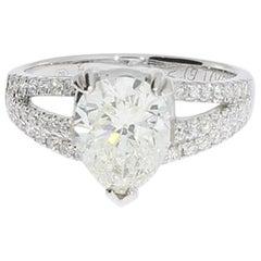 2.19 Carat Diamond Gold Engagement Ring