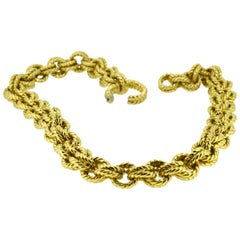 Heavy Gold Double Link Neck Chain