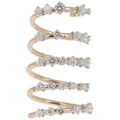 The Sublime Diamond Ring 2.07 Carat GVS 18 Rose Gold Ring Héritage Jewelry