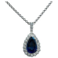 10.23 Carat Sapphire and Diamond Pendant