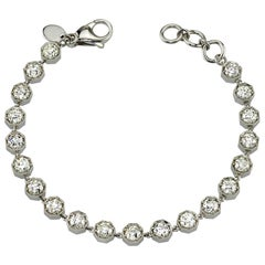 6.32 Carat Old European Cut Diamond Platinum Bracelet