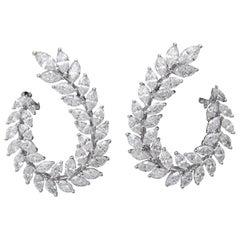 Marquise Diamond Swirl Earring