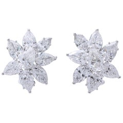 Diamond Cluster Earrings GIA Certified