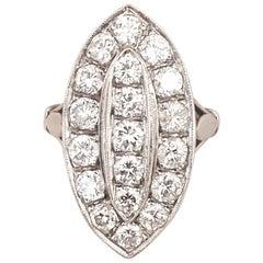 1920s Platinum Art Deco Diamond Ring