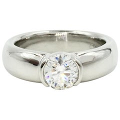 Tiffany & Co. Etoile 1.12 Carat Round Diamond Solid Platinum Solitaire Ring