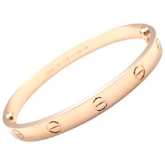Cartier Love Rose Gold Bangle Bracelet New Screw System