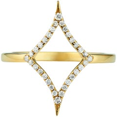 18 Karat Gold North Star Diamond Ring