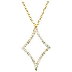 18 Karat Gold North Star Diamond Necklace
