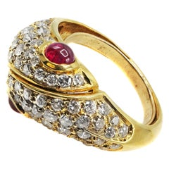 Diamond Ruby 18 Karat Gold Ring