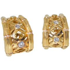 Cartier Gold and Diamond Earrings