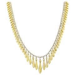 Victorian 14 Karat Egyptian Revival  Fringe Necklace