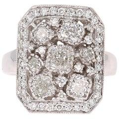 2.21 Carat Diamond Cocktail 18 Karat Gold Ring