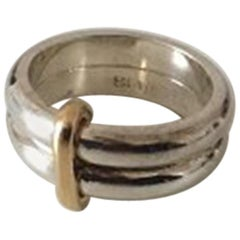 Georg Jensen Modern Sterling Silver Double Ring No A119